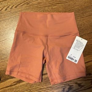 NWT align short size 6 rustic coral